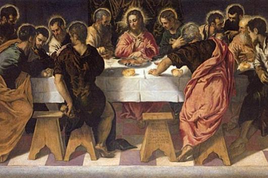Jacopo Tintoretto. The last supper