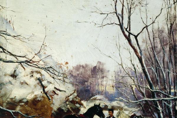 Nikolay Semenovich Samokish. Hunters. 1885