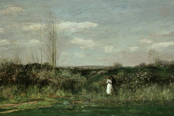 Шарль-Франсуа Добиньи. Весенний пейзаж