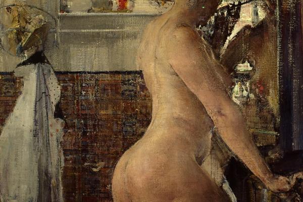 Nikolay Feshin. Nude in the bathroom