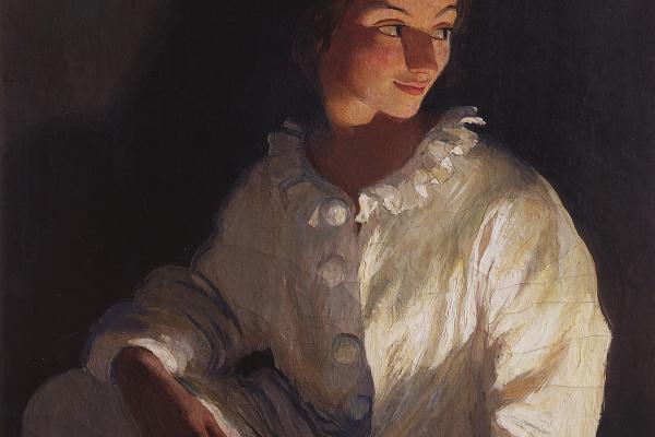 Zinaida Serebryakova. Self-portrait in the costume of Pierrot
