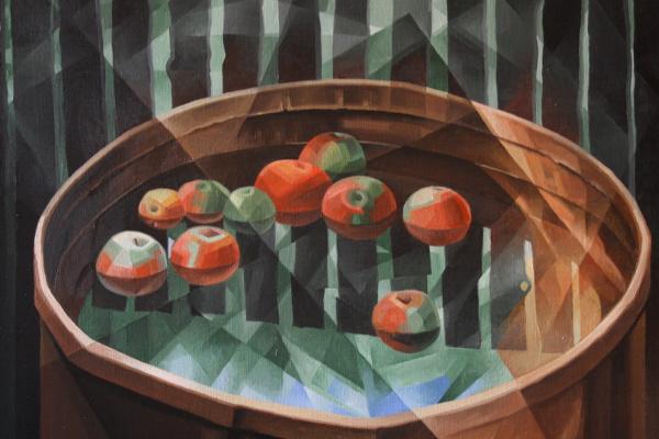Vasily Krotkov. Apple Spas. Post-Cubo-Futurism
