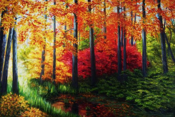 Natalia Viktorovna Tyuneva. Autumn forest