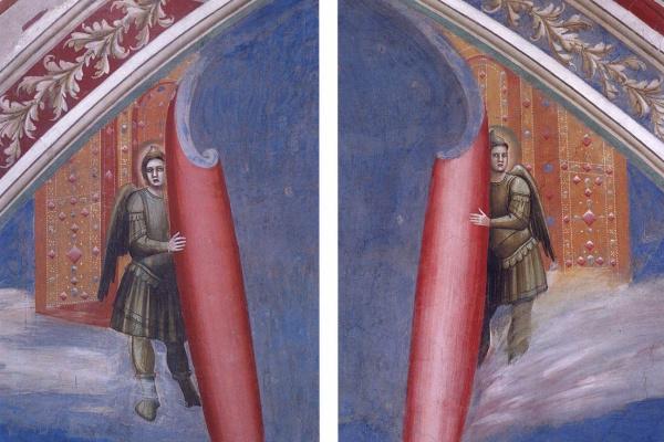Giotto di Bondone. Stashno court. Fragment 6