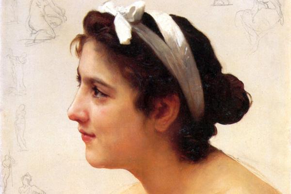 Адольф Вильям Бугро. Этюд. Портрет женщины
