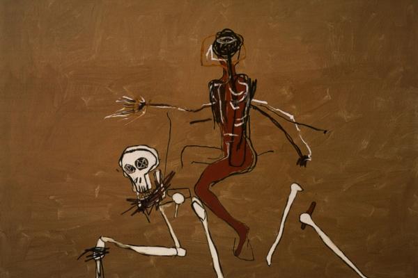 Jean-Michel Basquiat. Riding on death