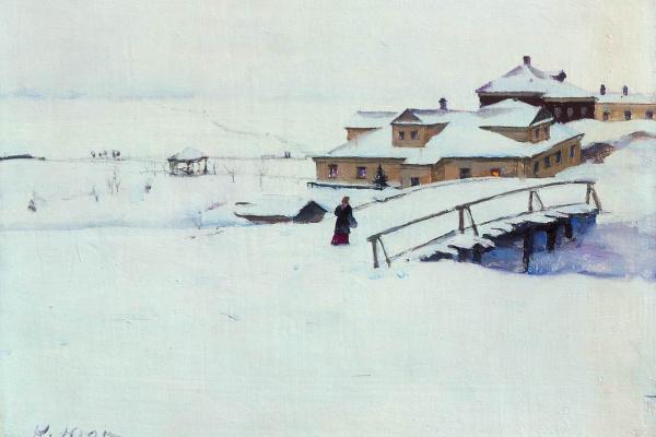 Константин Федорович Юон. Зимка. 1910