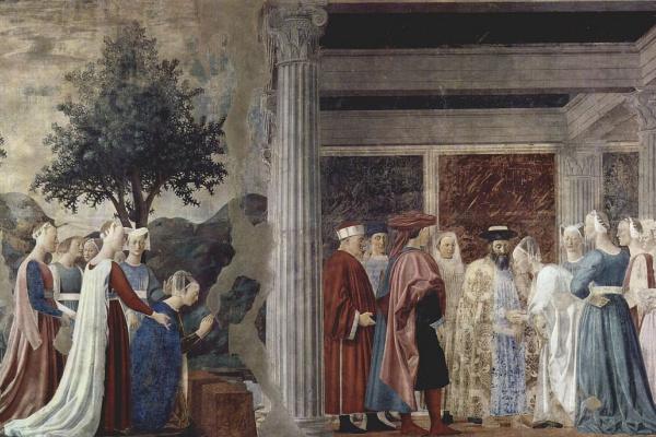 Пьеро делла Франческа. Посещение царя Соломона царицей Савской