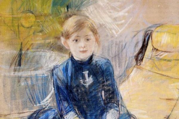 Берта Моризо. Маленькая девочка в голубом платье