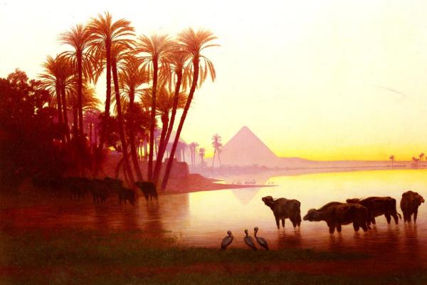 Karl Theodor Frer. Along The Nile