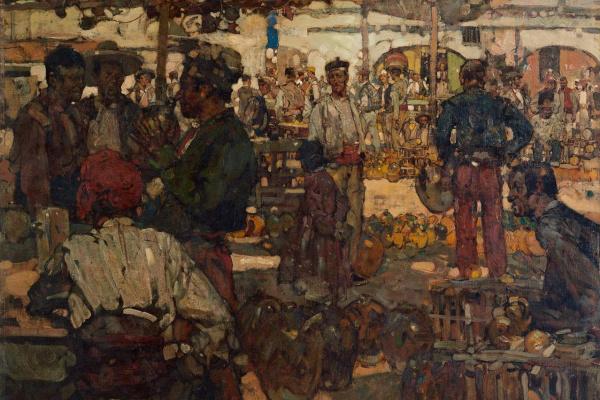 Frank William Brangwyn. Market