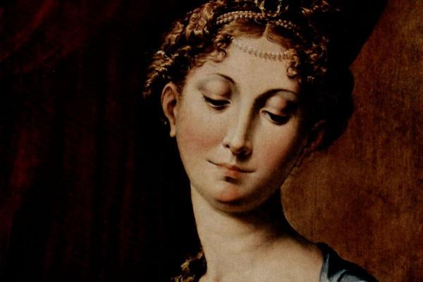 Франческо Пармиджанино. Мадонна с длинной шеей, деталь: Голова Мадонны