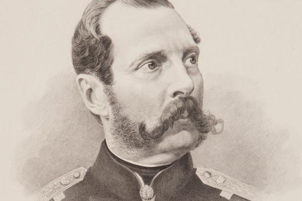 Fedor Ivanovich Jordan. Portrait of Emperor Alexander II