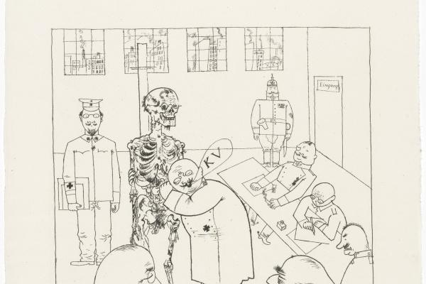 George Grosz. German doctors fight blockade
