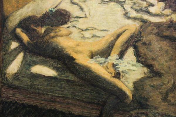 Пьер Боннар. Женщина, дремлющая на кровати