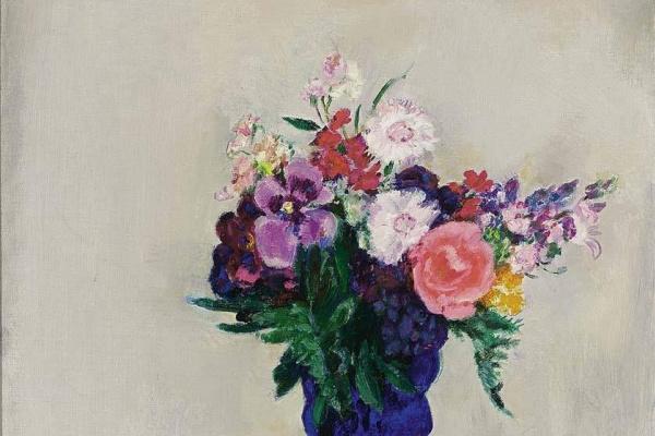 Ян Слёйтерс. Голубая ваза с цветами