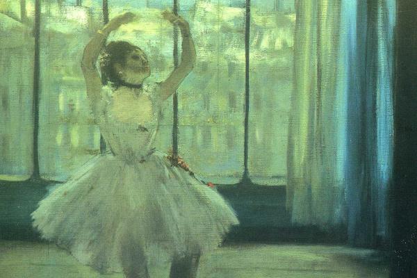 Edgar Degas. Dancer posing for a photographer
