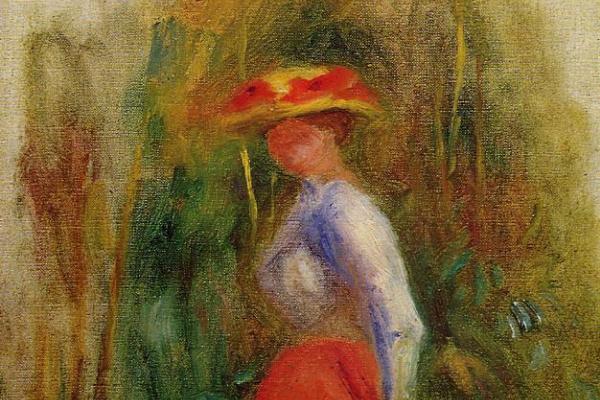 Pierre Auguste Renoir. Woman in a Landscape