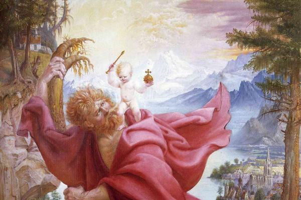 Отто Дикс. Святой Кристофор