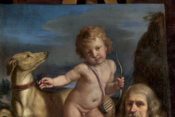 Джованни Франческо Гверчино. Автопортрет перед «Преданной любовью»