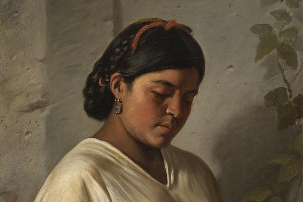 Фелипе Сантьяго Гутьеррес. Женщина с бархатцами