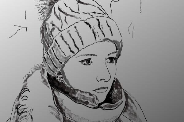 Eleonora Vladimirovna Chirkova. Self-portrait