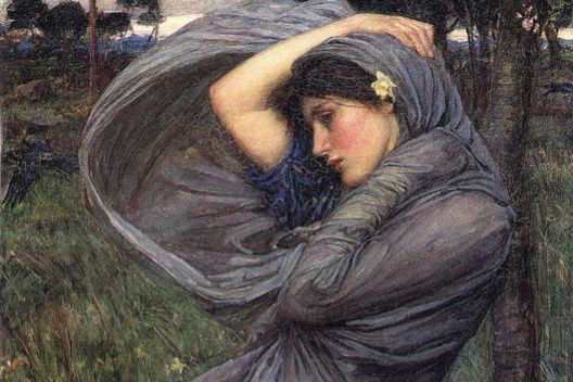 John William Waterhouse. The North wind
