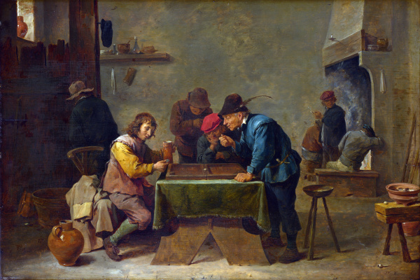 David Teniers the Younger. Backgammon players