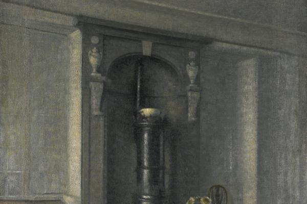 Вильгельм Хаммерсхёй. Интерьер с мраморной нишей