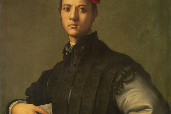 Якопо Понтормо. Портрет молодого человека в красной шапке