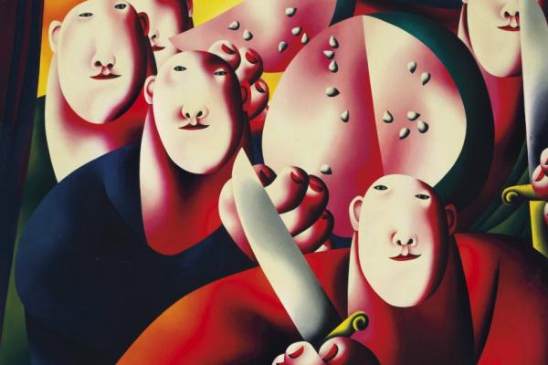 Oleg Nikolaevich Tselkov. Group portrait with watermelon