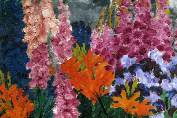 Эмиль Нольде. Цветы в саду