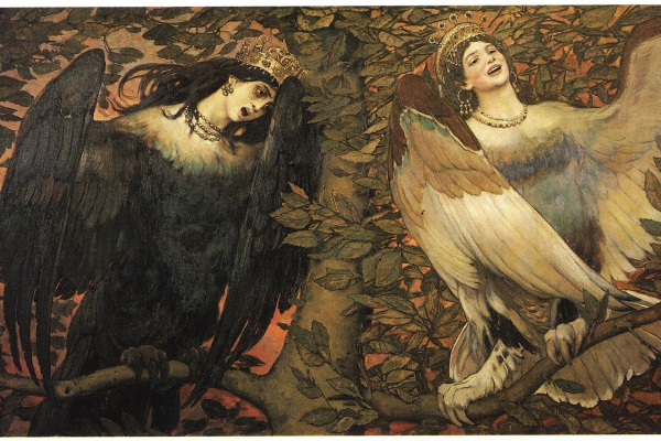 Victor Mikhailovich Vasnetsov. Sirin and Alkonost. A song of joy and sorrow