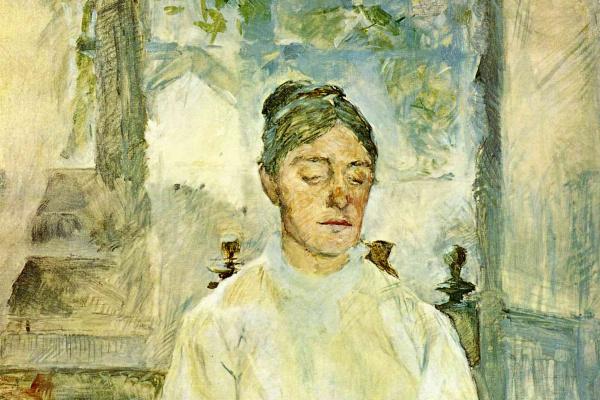 Анри де Тулуз-Лотрек. Мать художника, графиня Адель де Тулуз-Лотрек, за завтраком