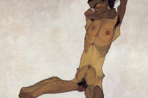 Эгон Шиле. Сидящий обнаженный