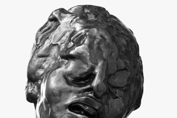 Auguste Rodin. Head of the tragic Muse