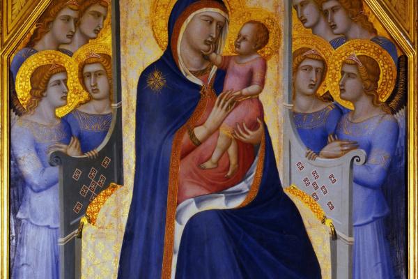 Pietro Lorenzetti. Madonna and child with angels