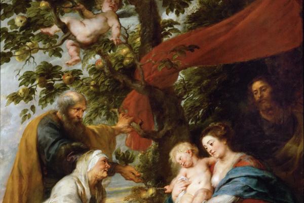 Питер Пауль Рубенс. Святое семейство под яблоней