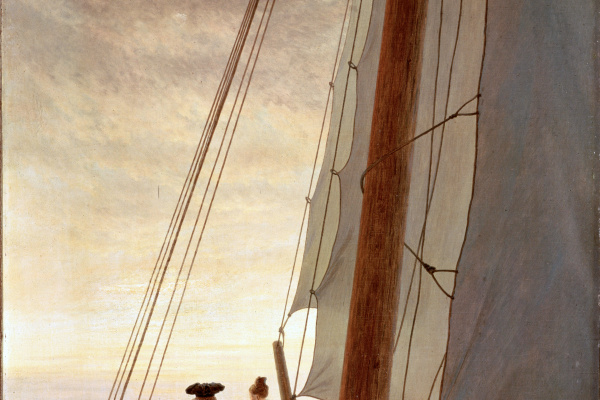 Caspar David Friedrich. On a sailing ship