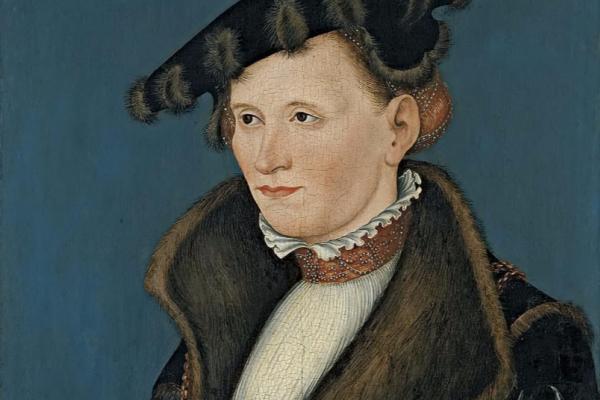 Lucas the Younger Cranach. Female portrait. Thyssen-Bornemisza Museum, Madrid.