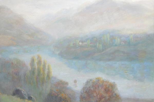 Oksana Viktorovna Zalevskaya. Charvak in the morning haze