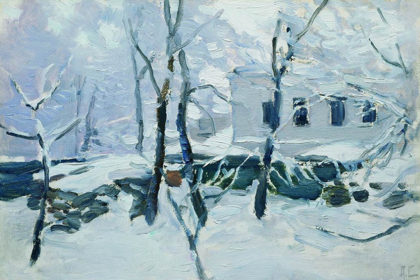 Alexey Stepanovich Stepanov (1858-1923). Winter. Frost. 1900-1910