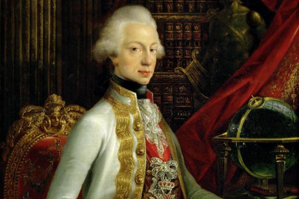 Жозеф Дорфмейстер. Портрет Фердинанда III, эрцгерцог Австрии и великого герцога Тосканского , сидящего в своей библиотеке