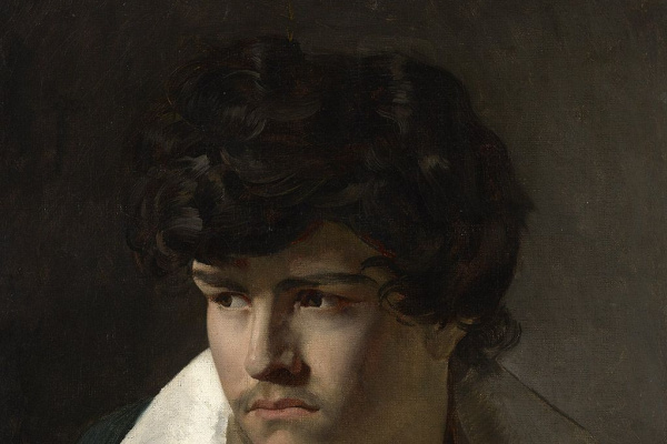 Théodore Géricault. Portrait of young man with open collar
