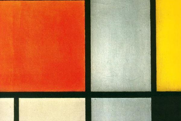 Пит Мондриан. Композиция №3 с красно-оранжевым, желтым, черным и серым
