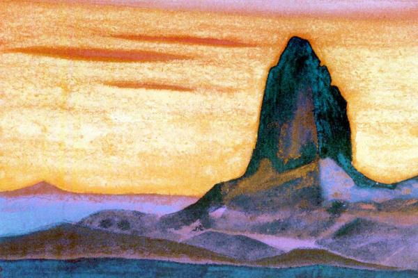 Nicholas Roerich. Mongolia (the Rock temple)