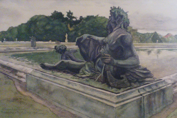 Александр Николаевич Бенуа. Версаль. Статуя Нептуна