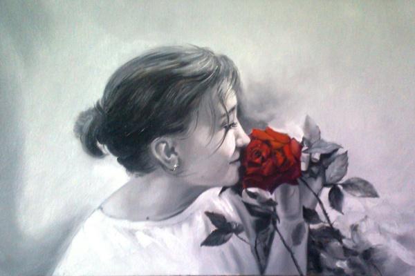Сергей Бурлаку. Портрет с розой