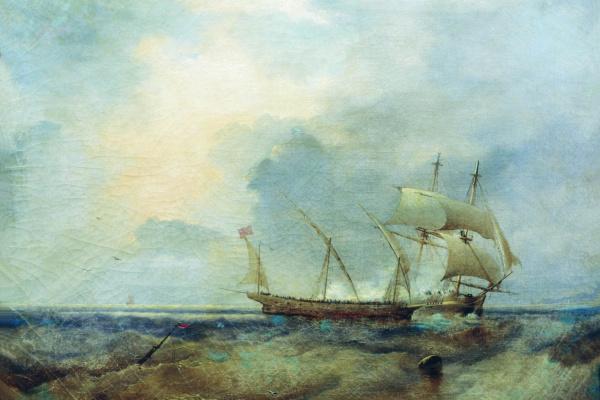 Alexey Petrovich Bogolyubov. Ships at sea