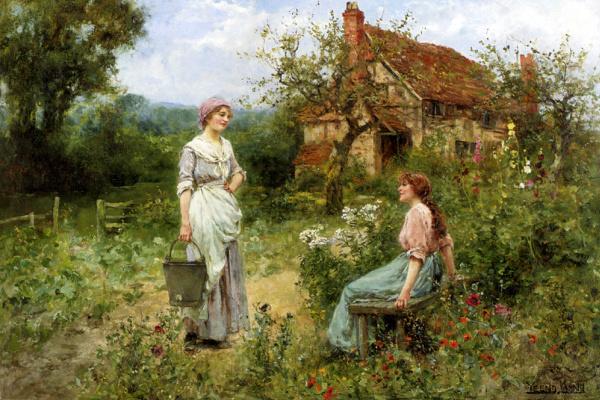 Генри Джон Кинг. Женщины в саду